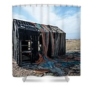 Old Fishermans Hut Shower Curtain