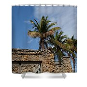 Old Florida Shower Curtain by Barbara McMahon