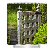 Old Garden Entrance Shower Curtain