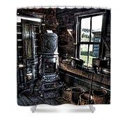 Old Ghost Town Stove - Molson Washington Shower Curtain