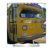 Old Gm Bus Shower Curtain