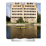 Old Granary In Gdansk Shower Curtain