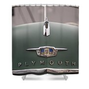 Old Green Plymouth Shower Curtain