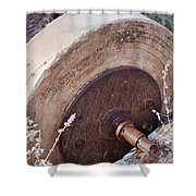 Old Grinding Wheel Shower Curtain