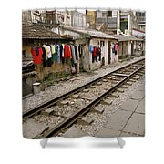 Old Hanoi By The Tracks Shower Curtain