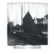 Old Harbor 1880 Shower Curtain