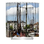 Old Harbor Shower Curtain