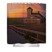 Old Harbor U.s. Life Saving Station Shower Curtain by Susan Candelario