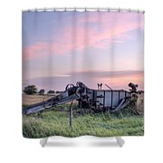 Old Harvester Sunset Shower Curtain