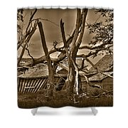 Old Homestead Shower Curtain by Shane Bechler