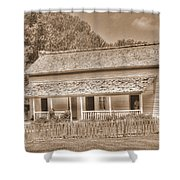 Old House In The Cove Shower Curtain