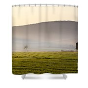 Old House On The Field Shower Curtain