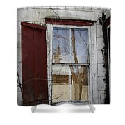 Old House Red Shutter 1 Shower Curtain