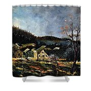 Old Houses In Mogimont Shower Curtain