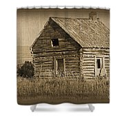 Old Hunting Cabin - Wyoming Shower Curtain