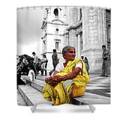 Old Indian Woman Shower Curtain