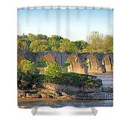 Old Interurban Bridge Shower Curtain