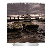 Old Jetty By The Bridge Shower Curtain