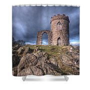 Old John Mug Tower 3.0 Shower Curtain