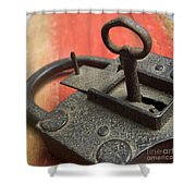 Old Key And Lock Shower Curtain