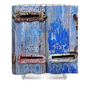 Old Mailboxes Shower Curtain