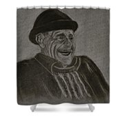 Old Man Laughing Shower Curtain