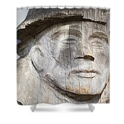 Old Man Of The Sea Shower Curtain
