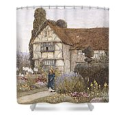 Old Manor House Shower Curtain by Helen Allingham