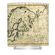 Old Map Of Northern Europe Shower Curtain