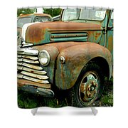 Old Mercury Truck Shower Curtain
