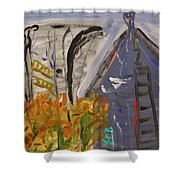Old Mill Building-autumn Shower Curtain