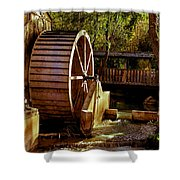 Old Mill Park Wheel Shower Curtain