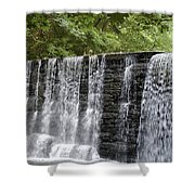 Old Mill Waterfall Shower Curtain