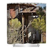 Old Miner's Cabin Shower Curtain