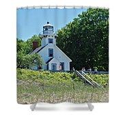 Old Mission Point Lighthouse 5306 Shower Curtain by Michael Peychich