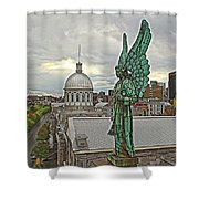 Old Montreal Angel Shower Curtain