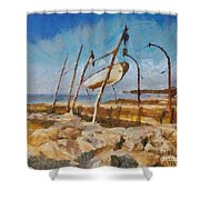 Old Moorings Shower Curtain