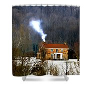 Old Native Stone Ross Co. Shower Curtain
