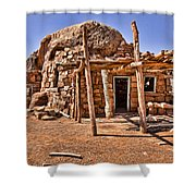 Old Navajo Stone House Shower Curtain