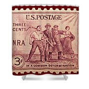 Old Nra Postage Stamp Shower Curtain