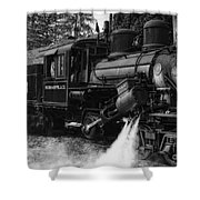 Old Number Three_climax Locomotive_durbin Wv _bw Shower Curtain