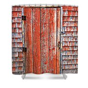 Old Orange Door  Shower Curtain