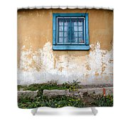 Old Paint Old Wall New Mexico Shower Curtain
