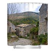 Old Perithia  Corfu  Greece Shower Curtain