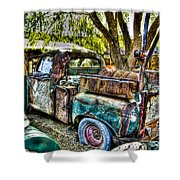 Old Pickup Shower Curtain