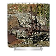 Old Plow Shower Curtain