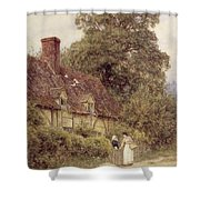 Old Post Office Brook Near Witley Surrey Shower Curtain