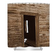 Old Ranch Hand Cabin Entry Shower Curtain