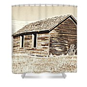 Old Ranch Hand Cabin L Shower Curtain