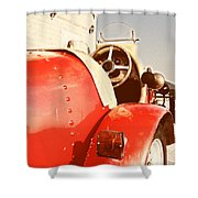 old Red Race Car Shower Curtain